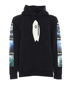 Marcelo Burlon: Sweatshirts & Sweaters - Surf print cotton hoodie