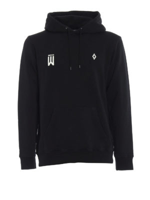 Marcelo Burlon: Sweatshirts & Sweaters - Waves print cotton hoodie