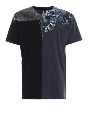 Marcelo Burlon: Felpe e maglie - T-shirt Wings e Snakes in cotone