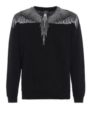 Marcelo Burlon: Felpe e maglie - Felpa Wings in cotone nero