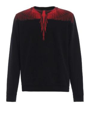 Marcelo Burlon: Felpe e maglie - Felpa Wings nera e rossa