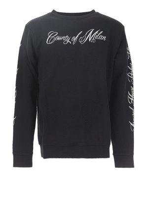 Marcelo Burlon: Sweatshirts & Sweaters - Wonk logo print sweatshirt