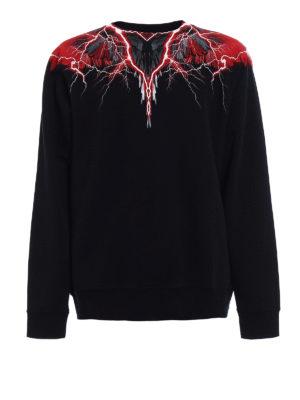 Marcelo Burlon: Sweatshirts & Sweaters - Worr yoke printed sweatshirt