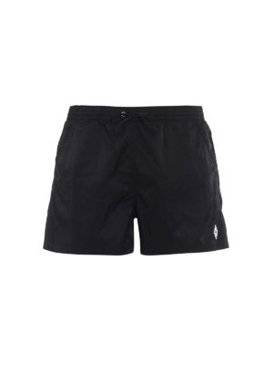 Marcelo Burlon: Swim shorts & swimming trunks - Cross embroidery black swim shorts