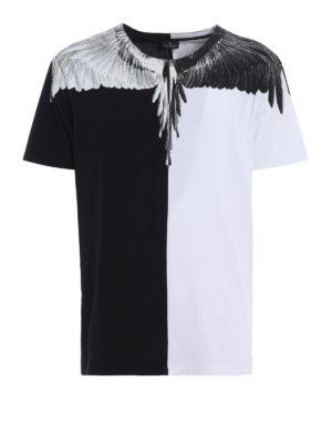 Marcelo Burlon: t-shirts - Aish bicolour cotton T-shirt