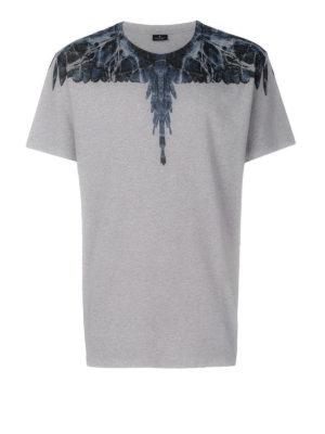 Marcelo Burlon: t-shirts - Amell print cotton T-shirt