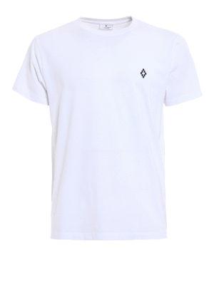 Marcelo Burlon: t-shirts - Bai logo detailed white Tee