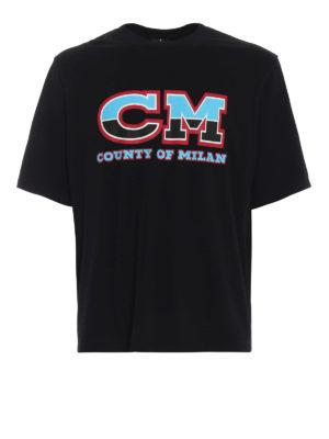 Marcelo Burlon: t-shirt - T-shirt CM nera in cotone