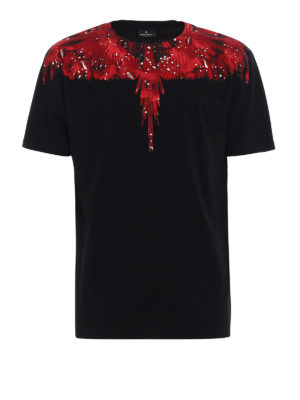 Marcelo Burlon: t-shirts - Camou Wing print cotton T-shirt