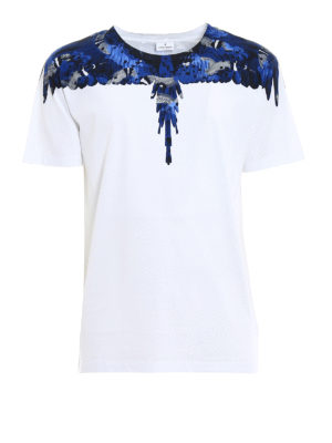 Marcelo Burlon: t-shirts - Camou Wings print cotton T-shirt