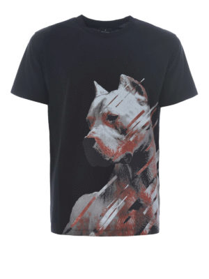 Marcelo Burlon: t-shirts - Dog black T-shirt