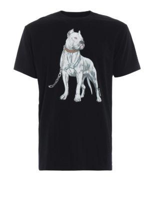 Marcelo Burlon: t-shirt - T-shirt Dogo nera in cotone