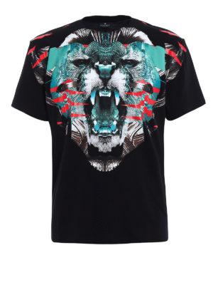 Marcelo Burlon: t-shirts - Elue multicolour printed Tee