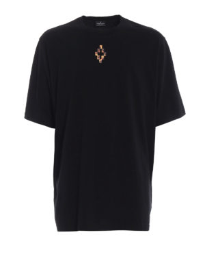 Marcelo Burlon: t-shirts - Fire Cross oversized T-shirt
