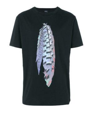 Marcelo Burlon: t-shirts - Genek print cotton T-shirt