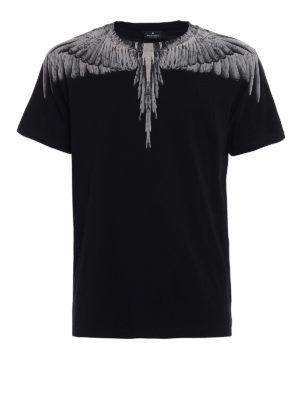 Marcelo Burlon: t-shirts - Jen signature printed black Tee
