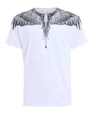 Marcelo Burlon: t-shirts - Jen signature printed white Tee