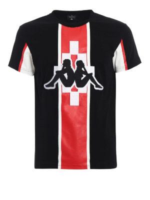 Marcelo Burlon: t-shirts - Kappa Stripe jersey T-shirt