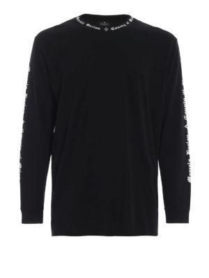 Marcelo Burlon: t-shirt - T-shirt MB nera a maniche lunghe