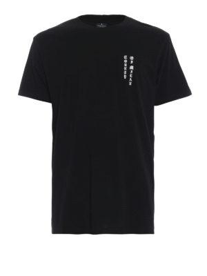 Marcelo Burlon: t-shirt - T-shirt MBCM nera con stampe gotiche