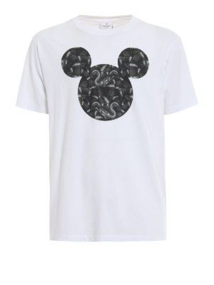 Marcelo Burlon: t-shirts - Mickey Mouse Snakes white T-shirt