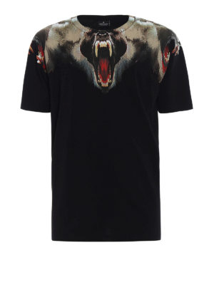 Marcelo Burlon: t-shirts - Monkey print cotton jersey T-shirt