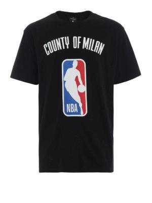 Marcelo Burlon: t-shirt - T-shirt nera e multicolore NBA