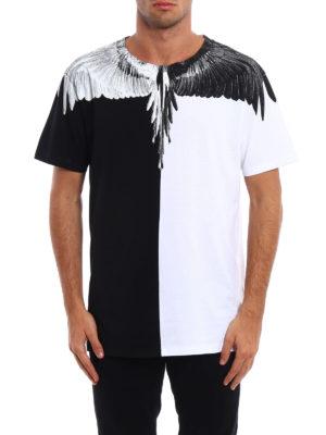 Marcelo Burlon: t-shirts online - Aish bicolour cotton T-shirt