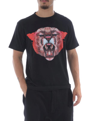 Marcelo Burlon: t-shirts online - Ashkish printed cotton Tee