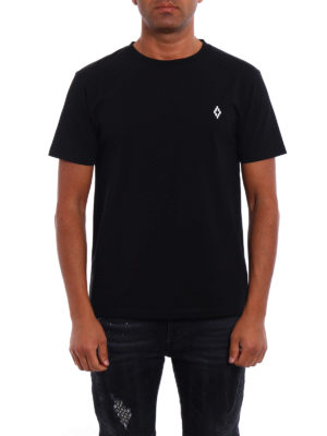 Marcelo Burlon: t-shirts online - Bai logo detailed black Tee