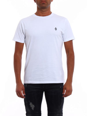 Marcelo Burlon: t-shirts online - Bai logo detailed white Tee