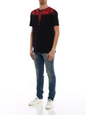 Marcelo Burlon: t-shirts online - Camou Wing print cotton T-shirt