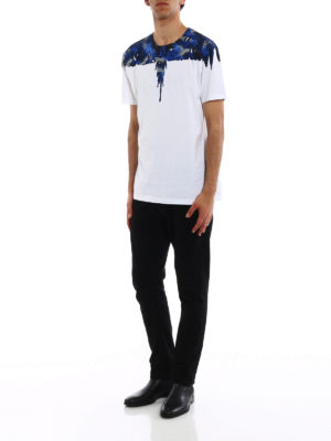 Marcelo Burlon: t-shirts online - Camou Wings print cotton T-shirt