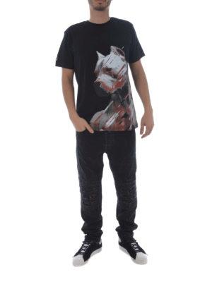Marcelo Burlon: t-shirts online - Dog black T-shirt