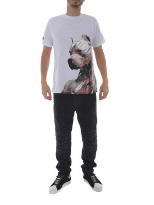 Marcelo Burlon: t-shirts online - Dog white T-shirt