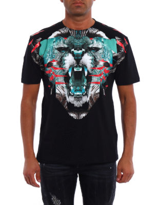 Marcelo Burlon: t-shirts online - Elue multicolour printed Tee