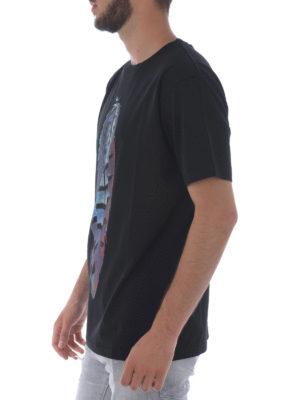 Marcelo Burlon: t-shirts online - Genek print cotton T-shirt