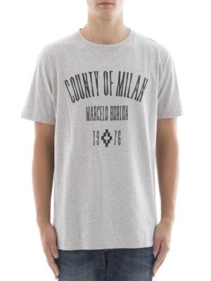 Marcelo Burlon: t-shirts online - Jak logo print T-shirt