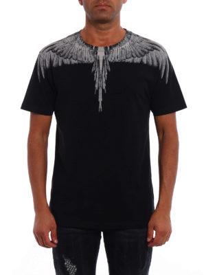Marcelo Burlon: t-shirts online - Jen signature printed black Tee