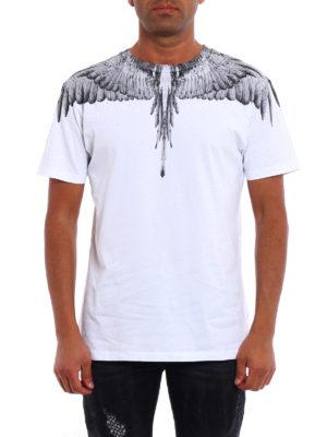 Marcelo Burlon: t-shirts online - Jen signature printed white Tee
