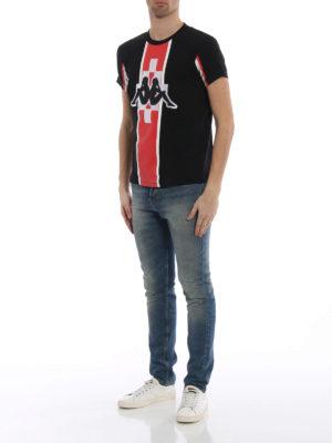 Marcelo Burlon: t-shirts online - Kappa Stripe jersey T-shirt
