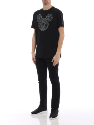 Marcelo Burlon: t-shirts online - Mickey Mouse Snakes black T-shirt