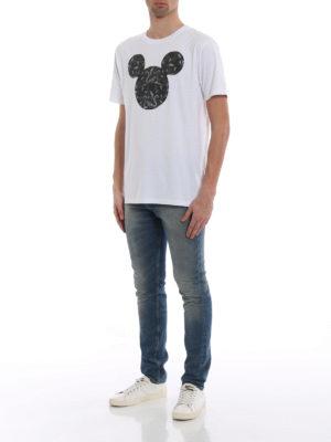 Marcelo Burlon: t-shirts online - Mickey Mouse Snakes white T-shirt