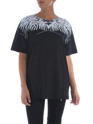Marcelo Burlon: t-shirts online - Paloma oversize cotton T-shirt