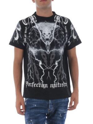 Marcelo Burlon: t-shirts online - Piuke printed cotton Tee