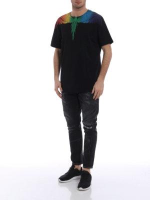 Marcelo Burlon: t-shirts online - Rainbow Wing T-shirt