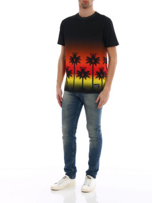 Marcelo Burlon: t-shirts online - Red Palm T-shirt