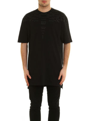 Marcelo Burlon: t-shirts online - Sein rubber print cotton T-shirt