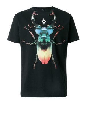 Marcelo Burlon: t-shirts - Otitl print cotton T-shirt