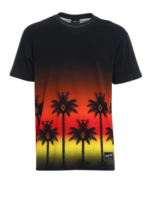 Marcelo Burlon: t-shirts - Red Palm T-shirt